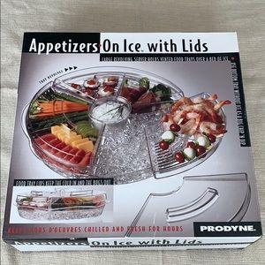 Prodyne Appetizer Tray with Ice Tray